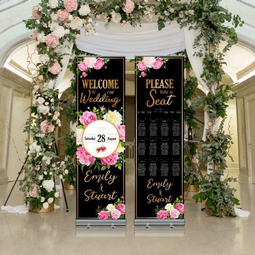 Wedding Roller Banner N11 - Welcome to our Wedding / Table Seating Plan